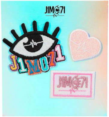 J1MO71 Patches 3er Set - Klebe-Applikationen 10337 || J1MO71 - Lisa & Lena Aufkleber zur Dekoration - Accessoires