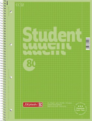 Brunnen Collegeblock DIN A4 Lineatur 28 80 Blatt Kiwi