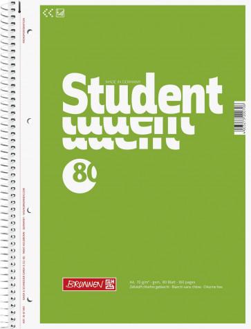 Brunnen Collegeblock DIN A4 80 Blatt unliniert