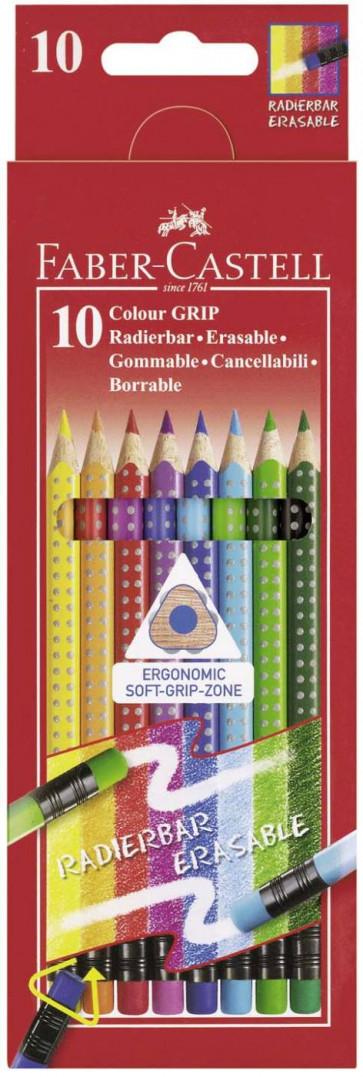Faber Castell Farbstift Radierbar Colour Grip 10Er Etui