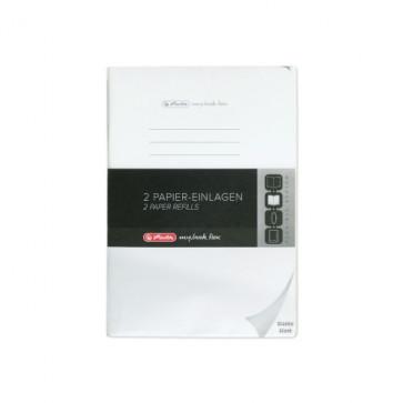 Herlitz my.book flex Refill blanko A4 2x 40 Blatt Nachfüllsatz, gelocht mit Mikroperforation