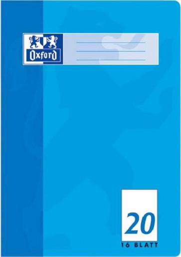Oxford Schulheft DIN A4 Lineatur 20 blanko 16 Blatt
