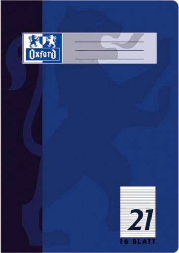 Oxford Schulheft DIN A4 Lineatur 21 liniert 16 Blatt