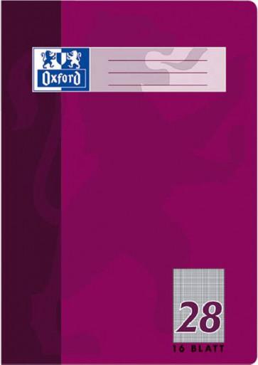 Oxford Schulheft DIN A4 Lineatur 28 kariert 16 Blatt