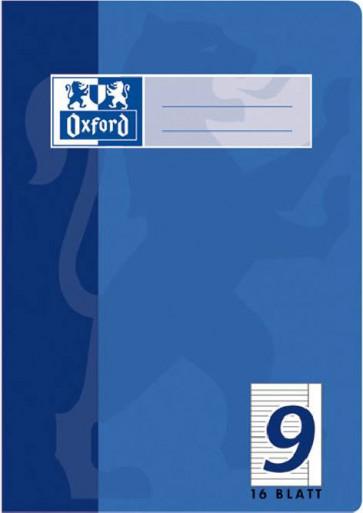 Oxford Schulheft A5 16 Blatt Lineatur 9 liniert Rand