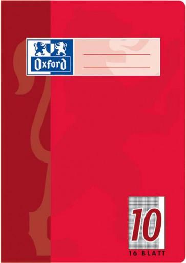 Oxford Schulheft DIN A5 16 Blatt Lineatur 10 kariert mit Rand