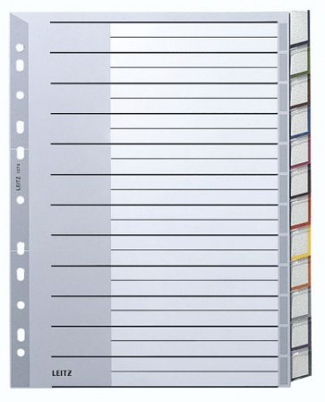 Leitz Plastik-Register 12Tlg Grau Blanco 1274