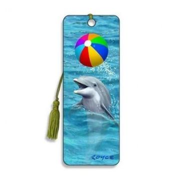 3D Lesezeichen Delfin mit Ball    Artgame