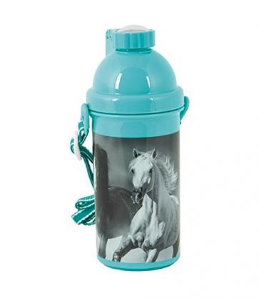 Trinkflasche Pferde (blau)