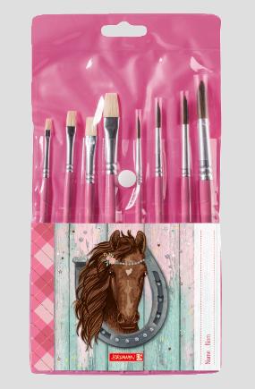 Das Brunnen Schulpinsel Set Ponylove in rosa