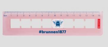 """Brunnen Lineal """"Flip"""" 15cm #Harmony rosa"""