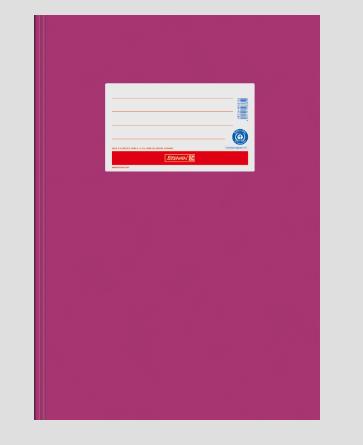 Brunnen Heftumschlag aus Papier pink A4 104055426