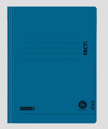 Brunnen Schnellhefter FACT! Recycling blau A4 102010430