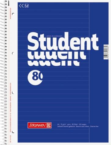 Brunnen Collegeblock Student Lin. 25 DIN A4 liniert blau