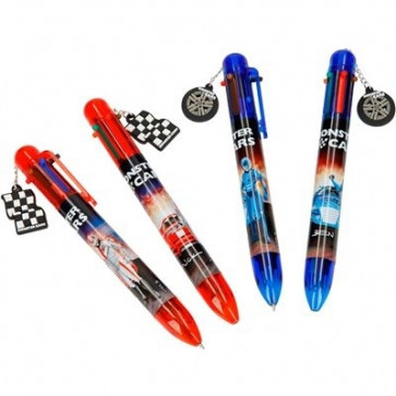 Monster Cars Kugelschreiber mit 6 Farben