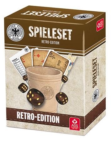 DFB Spieleset Retro-Edition – Würfel, Karten, Mikado, Yatzy uvm.