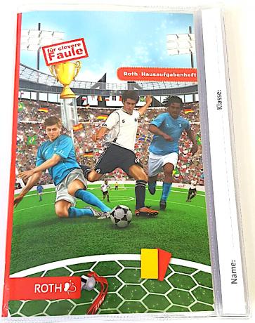 """Roth Hausaufgabenheft Teens """"Für clevere Faule"""" – Fußball bunt"""