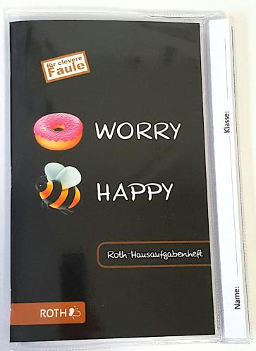 """Roth Hausaufgabenheft Teens """"Für clevere Faule"""" – schwarz"""