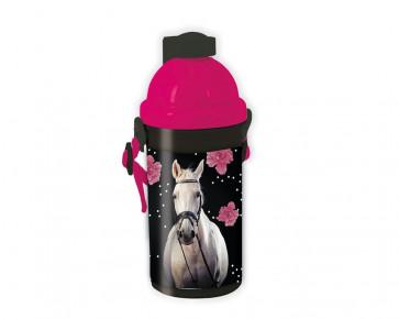 Paso Trinkflasche - Motiv Pferd mit Blumen 18-3021HR