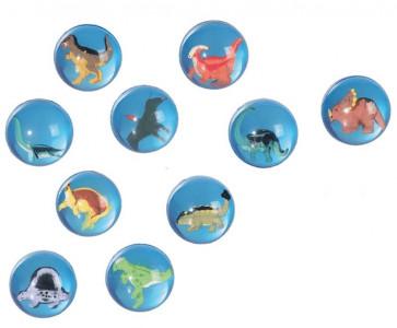 Springball-Flummi Dinosaurier sortiert