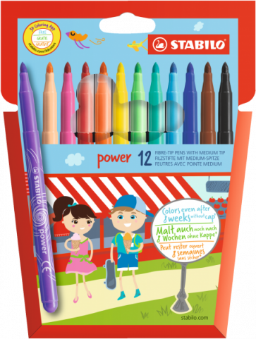 Filzstift - STABILO power Fasermaler - 12er Pack