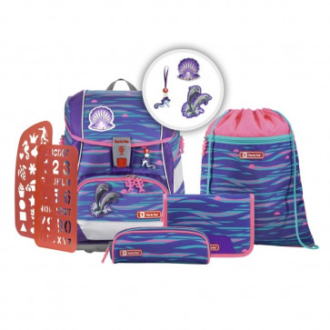 """Step By Step 2IN1 PLUS Schulranzen-Set """"Shiny Dolphins"""" 6-teilig Motiv Delphine    Limited Edition    MAGIC MAGS"""