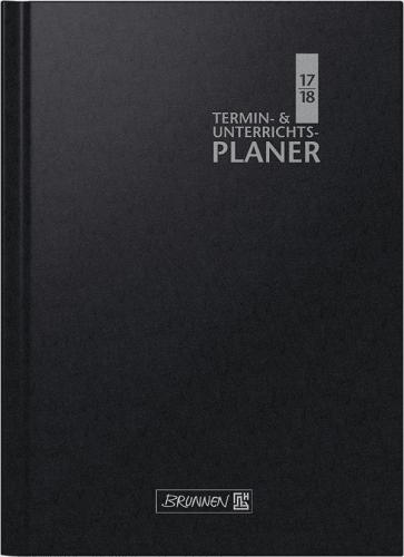 Brunnen Wochenkalender Lehrerkalender schwarz 2019/2020 Überformat A4: 23 x 29,7 cm