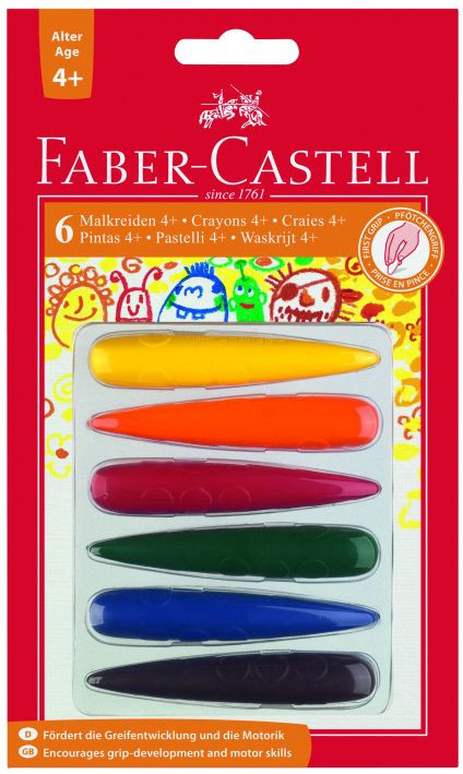faber castell malkreide finger 6er pc f r kinder ab 4 jahre. Black Bedroom Furniture Sets. Home Design Ideas