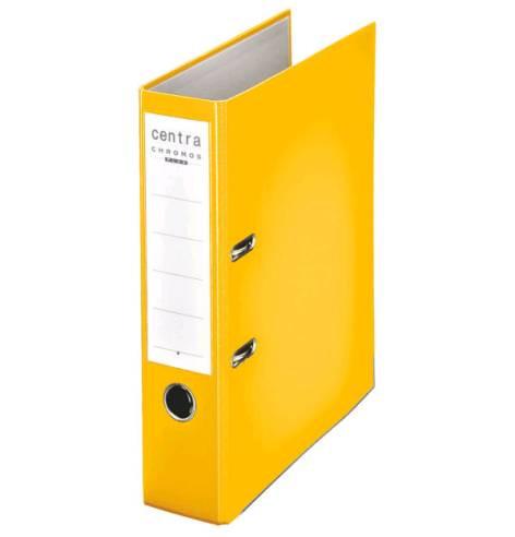 centra plastik ordner centra 80mm gelb. Black Bedroom Furniture Sets. Home Design Ideas