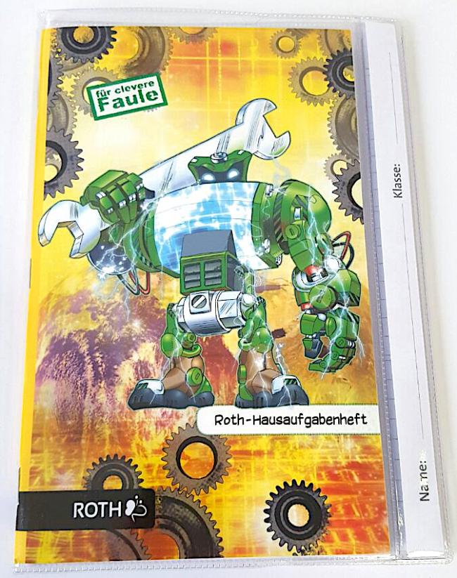 """ROTH Hausaufgabenheft Teens /""""Roboter/"""" DIN A5"""