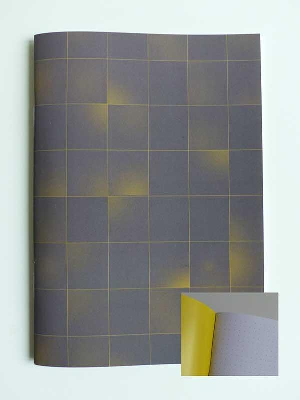 kleinb notizheft din a5 rechtecke gelb. Black Bedroom Furniture Sets. Home Design Ideas