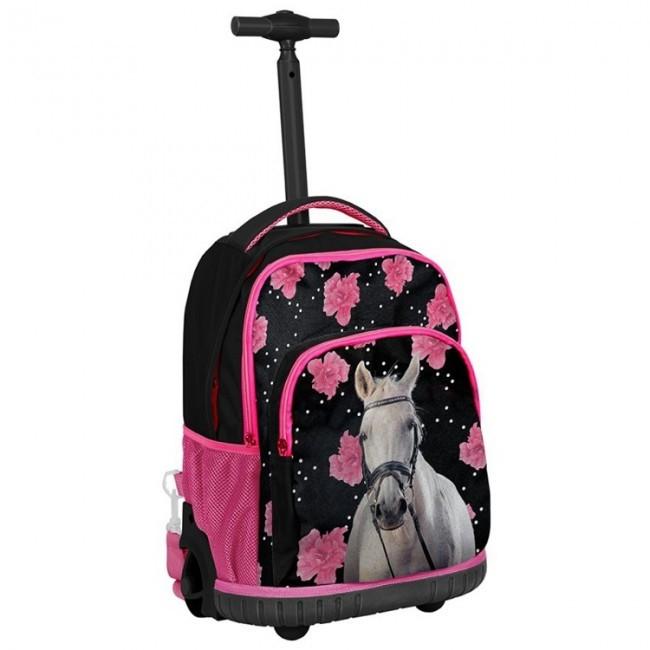9445047009c17 Paso Bundle Pferd mit Blumen – Trolley Schulrucksack mit Zubehör ...