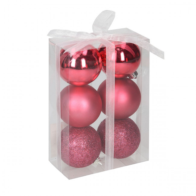 Weihnachtskugeln Pink.Weihnachtskugeln 6 Cm Pink 6 Stück