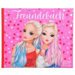 TOPModel Freundebuch Motiv2 Jill & June Rosa Herzen 11035