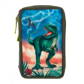 Dino World 3-Fach Federtasche LED T-Rex || Depesche 11288