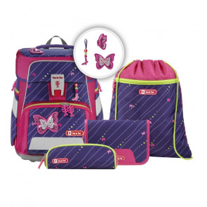 """STEP BY STEP SPACE Schulranzen-Set 5-teilig """"Shiny Butterfly"""""""