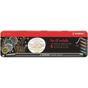 Stabilo Pen 68 metallic 6er Metalletui