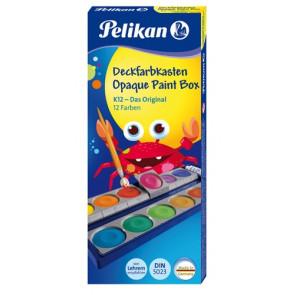 Pelikan Deckfarbkasten K12 mit 12 Farben