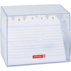 Brunnen Karteikartenbox DIN A6 gefüllt transparent