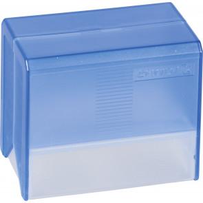 Brunnen Karteikartenbox DIN A7 blau transparent