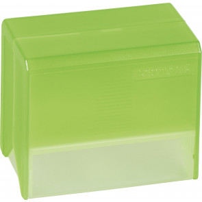 Brunnen Karteikartenbox DIN A7 grün transparent