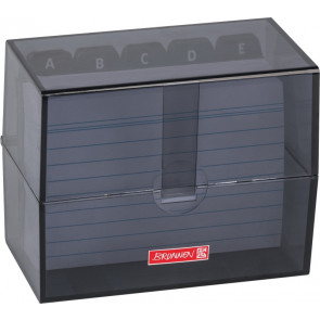 Brunnen Karteibox DIN A7 gefüllt schwarz transparent