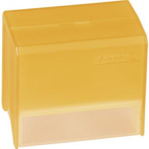 Brunnen Karteikartenbox DIN A8 gefüllt orange transparent
