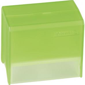 Brunnen Karteikartenbox DIN A8 gefüllt grün transparent