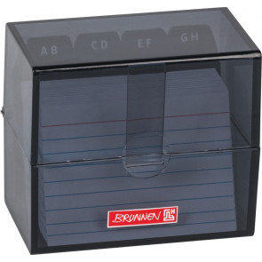 Brunnen Karteikartenbox DIN A8 gefüllt schwarz transparent