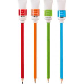Brunnen Bleistift mit Radierer Farbtube rot