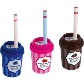 """Brunnen Dosenspitzer mit Bleistift """"Milkshake"""" 6,5 x 4,5 cm 3 braun"""