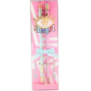 J1MO71 Bleistift Set Pink und Hellblau 10340 || J1MO71 - Lisa & Lena
