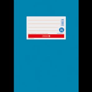 """Brunnen Heftumschlag Hefthülle Recyclingkarton DIN A5 """"mittel blau"""" (Heftschoner) 104055534"""