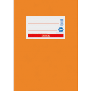"Brunnen Heftumschlag Hefthülle Recyclingkarton DIN A5 ""orange"" (Heftschoner) 104055540"